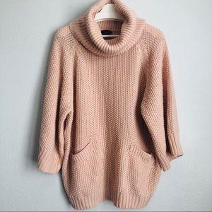 Cliche Couture Oversized Peach Sweater